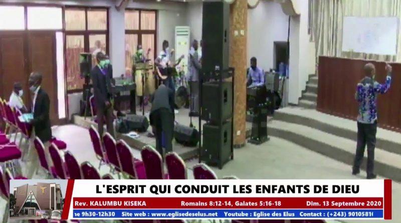 Pasteur KALUMBU KISEKA: L'esprit qui conduit les enfants de Dieu – 1er culte Dimanche 13 Septembre 2020