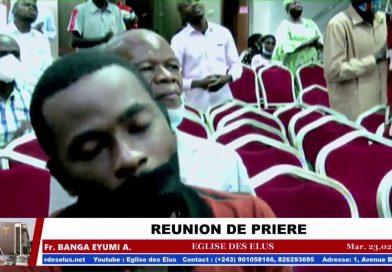 EDE RÉUNION DE PRIÈRE – S'OCCUPER DES AFFAIRES DU PÈRE – Fr. Banga EYUMI, Mardi 23.02.2021